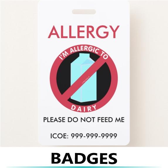 allergy alert badge