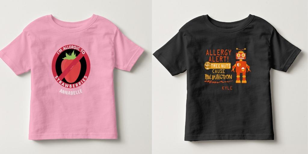 1c79da3c Personalized Allergy Alert Shirts - Lil Allergy Advocates