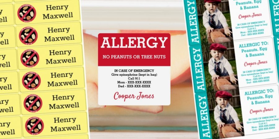 Personalized Waterproof Allergy Labels